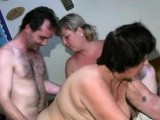 Threesome with BBW and a old nanny
