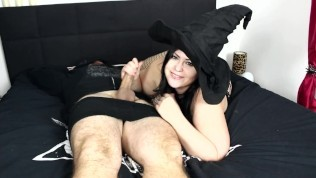 Chubby Witch fucked in all holes