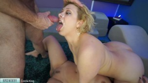 Huge Facial for Wife's Teen Friend