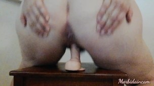 Very horny bbw MILF with wet hairy pussy rides huge cock